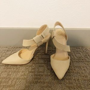 Vince Camuto Shoes - Vince Camino Calin Snakeskin Heels In Nude